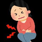 腹痛(女性)イラスト